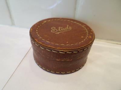 Wonderful Vintage Leather Jewellery Box. Retro Jewelry Case. Old Jewellers Box