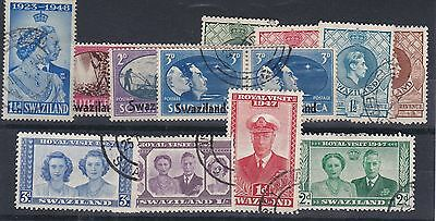 F322: Swaziland George VI  small Assortment mainly used