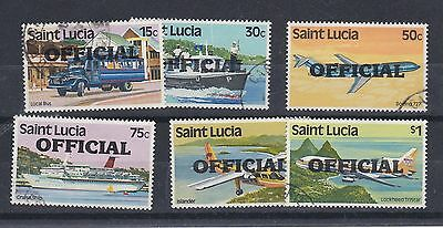 F257: St Lucia 1983 Official Stamps Part Set Used