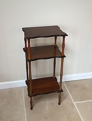 Antique table multilevel wooden table