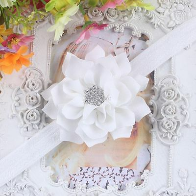 Baby Rhinestone Flower Cute Headband Newborn Girls Toddler Girls Hair Band