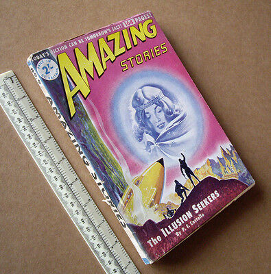 1950s Amazing Stories #6 Vintage British Issue Sci-Fi Mag Great Cover Art