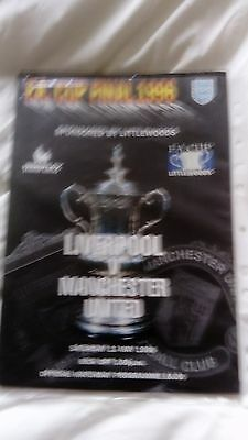 1996 fa cup final programme