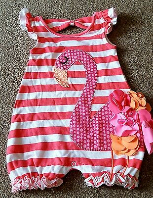 Mud pie girls romper size 0-6 months