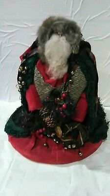 Christmas Santa Claus 1989 H.C. accents signed Henry Curtis decorations figure