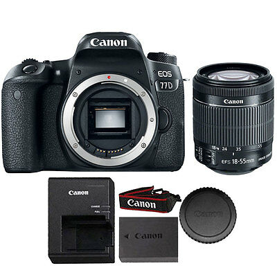 Canon EOS 77D 24.2MP DSLR Camera with Canon 18-55mm IS STM Lens