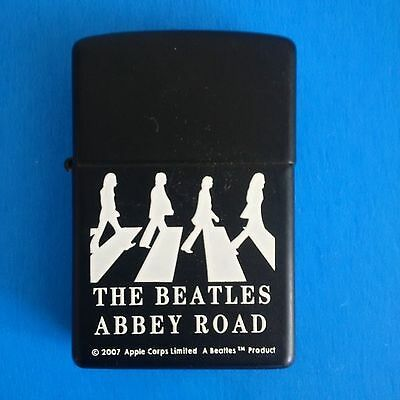 THE BEATLES ABBEY ROAD ZIPPO LIGHTER C/W CASE and OVER COVER in NEW CONDITION