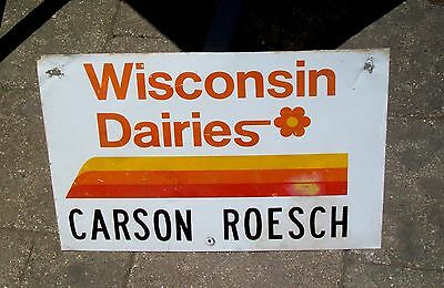 Old Wisconsin Dairies Metal Dairy Farm Advertising Sign