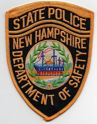 New Hampshire State Police Patch - Department Of Safety - Shoulder Shield