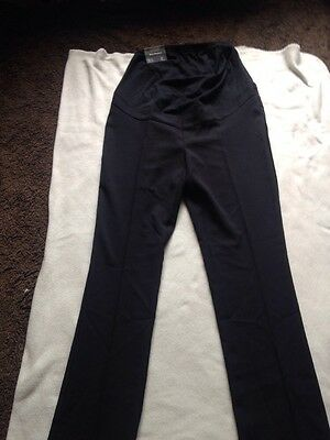 BNWT Ladies New Look Size 10, Black Maternity Over Bump Trousers