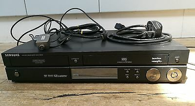 SAMSUNG DVD-VR325 DVD RECORDER VIDEO PLAYER VCR COMBO CD VHS with REMOTE LEADS