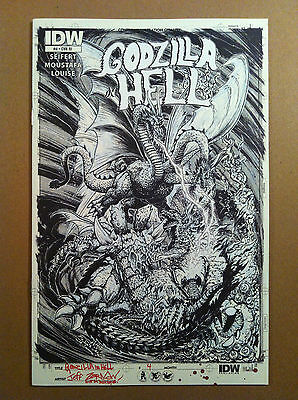 GODZILLA IN HELL #4 RI IDW ARTIST'S EDITION 1:10 VARIANT COVER by JEFF ZORNOW NM