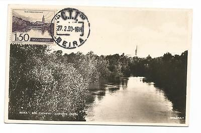 Card 1950 Beira Mozambique Rio Chiveve Creek Maximum Postcard Post