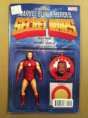 Secret Wars (2015) #9 Iron Man Action Figure Variant Cover Nm 1St Printing