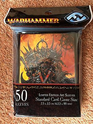 Warhammer Exalted Champion LE Trading Card Art Sleeves (50) 2013 FFG