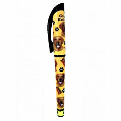 Golden Retriever Dog Lovers Pen Refillable Gift Puppy E & S Pets Many Breeds