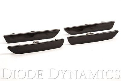 2010 - 2014 Mustang LED Smoked Front & Rear Side Marker Lights Diode Dynamics