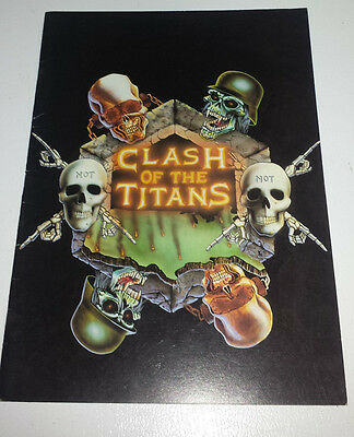 Clash of the titans: 1990 tour book slayer/megadeth/anthrax/3 of the big 4