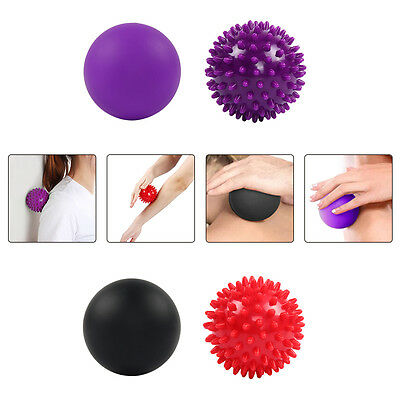 Useful Lacrosse and Spiky Massage Ball Set for Trigger Point Therapy, 2 pack