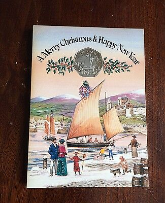 1981 Isle of Man Christmas Double Crown -Collectors Coin Fifty 50 Pence