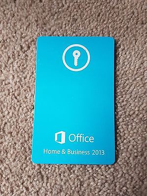 Microsoft Office 2013 Home and Business Activation Keycard
