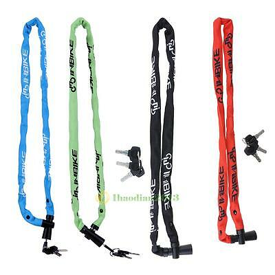 Cycling Security Bike  Bicycle Cable Chain Lock Candy Color 1m/3.3' with 3 Keys