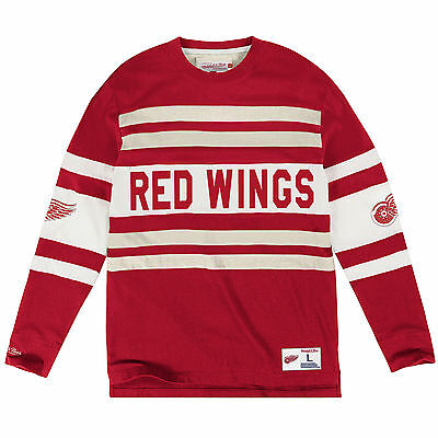 Detroit Red Wings Mitchell & Ness long sleeve Jersey knit