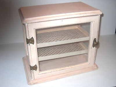 Vintage Art Deco Wood And Glass Sterilizer Store Display Box Cabinet Painted