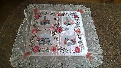 WW1 Painted silk and lace memorabilia