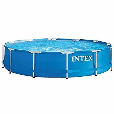 Swimming Frame Pool Metal Above Ground Removable Garden Outdoor 366 x76 cm