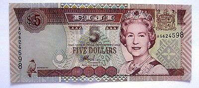 Banknote>Fiji>5 Dollars >2002 Nd Issue> Unc Cond.<