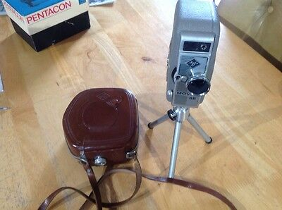 Vintage Agfa MOVEX 88 Camera Case , Tripod For Display,