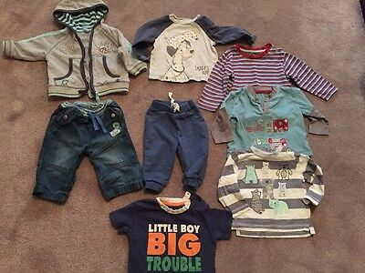 Baby Boy 3-6 Months Clothes Bundle 8 Items Inc Disney Tigger 101 Dalmatian