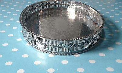Vintage Silver Plated Sheffield Oval Gallery Serving Tray