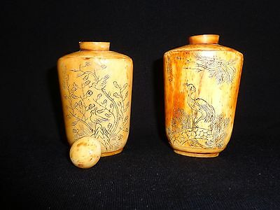 Lot of two antique snuff bottles