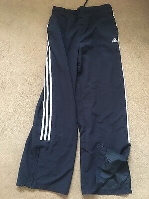 Ladies Adidas Dark Blue Navy Tracksuits Bottom Trousers Size 16