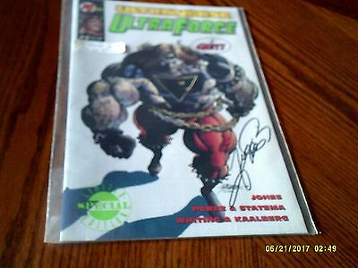 Malibu Comics Ultraverse UltraForce # 2 Comic Book Signed by George Perez