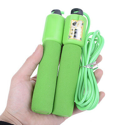 Skipping Rope With Digital Counter Adjustable Adult Fitness Boxing Jump Exercise