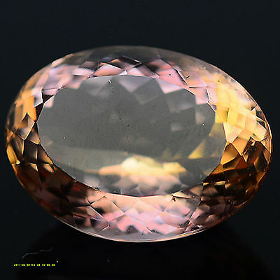 14.79 Ct Aaa! Natural! Purple & Golden Ametrine Oval Bolivia
