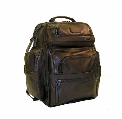TUMI Alpha 2 T-Pass® Business Class Leather Brief Pack® BackPack ~96578 Ret $675