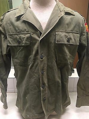 US Military 45th Division HBT Shirt - Size 36R