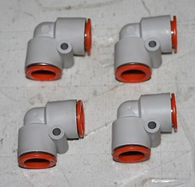 "(4 Lot) SMC 1/2"" Push-in Elbow Air Fittings"