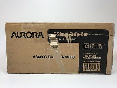 Aurora AS680S Professional Light Duty Strip Cut Paper Shredder