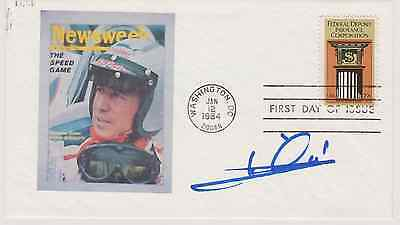 Signed Mario Andretti Fdc Autographed First Day Cover Indy 500