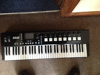 Akai Advance 61 Controller Keyboard - Brand New - Hardly Used, Due To Present