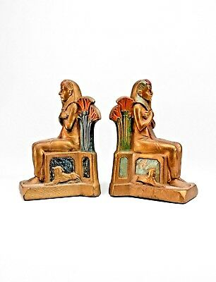 Pair of Middle Eastern/Egyptian Style (1st qtr 20th Cent-Czech) Bronze Bookends