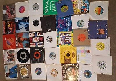"Job Lot of 34 Vinyl 7"" Singles - Mainly 60's, 70's,80's -"