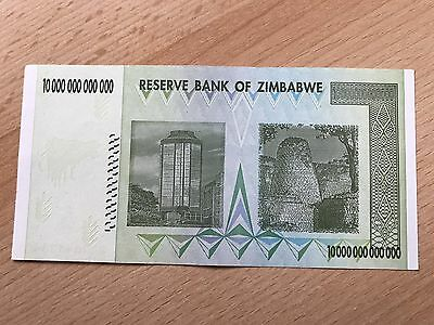 Zimbabwe 10 Trillion Dollars Brand New Uncirculated