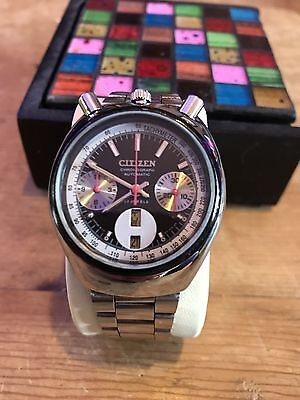 Citizen Bullhead Vintage Automatic Chronograph Watch 1970s