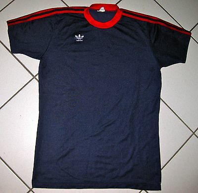 Vintage Adidas Trikot D7/8 (L) Shirt Maillot Jersey 70s Made in West Germany RAR
